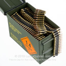 Cheap 5.56x45 Ammo For Sale - 62 Grain FMJ Ammunition in Stock by Magtech - 800 Linked Rounds in Ammo Can