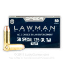 Bulk 38 Special Ammo For Sale - 125 Grain TMJ Ammunition in Stock by Speer Lawman - 1000 Rounds