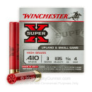 Cheap 410 Gauge Ammo For Sale - 11/16 oz #4 Shot Ammunition in Stock by Winchester Super X - 25 Rounds