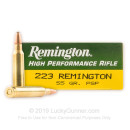 Bulk 223 Rem Ammo For Sale - 55 Grain PSP Ammunition In Stock by Remington Core-Lokt - 20 Rounds