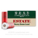 "Cheap 12 Gauge Ammo For Sale - 2 3/4"" 1 1/8 oz. #7.5 Shot Ammunition in Stock by Estate Cartridge - 25 Rounds"