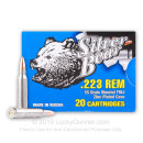 Cheap Silver Bear 223 Rem Ammo For Sale - 55 grain FMJ Ammunition In Stock - 20 Rounds