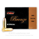 38 Special  Ammo For Sale - 132 gr FMJ Ammunition by PMC In Stock - 50 Rounds
