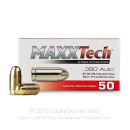 Cheap 380 Auto Ammo For Sale - 95 Grain FMJ Ammunition in Stock by Pobjeda Technology MAXXTech - 50 Rounds