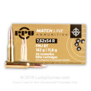 Match 7.62x54r Ammo For Sale - 182 gr FMJ-BT Ammunition In Stock by Prvi Partizan - 20 Rounds