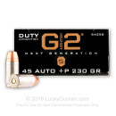 Premium 45 ACP +P Ammo For Sale - 230 Grain JHP Ammunition in Stock by Speer LE Gold Dot G2 - 50 Rounds