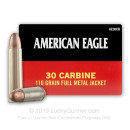 Bulk 30 Carbine Ammo For Sale - 110 Grain FMJ Ammunition in Stock by Federal American Eagle - 500 Rounds