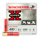 "410 Bore Ammo - Winchester Upland & Small Game 2-1/2"" #6 Shot - 25 Rounds"