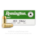 40 S&W Ammo For Sale - 165 gr MC Remington UMC 40 cal Ammunition In Stock
