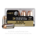 Defensive 45 ACP Ammo For Sale - 230 gr HST JHP - Federal Premium Defense Ammunition In Stock - 20 Rounds