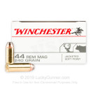 44 Magnum Ammo For Sale - 240 gr JSP Winchester Ammunition In Stock - 50 Rounds