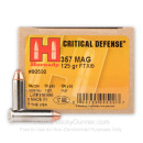 357 Magnum Defense Ammo For Sale - 125 gr JHP FTX Hornady Ammunition In Stock - 25 Rounds