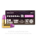 Premium 9mm Ammo For Sale - 147 Grain Total Synthetic Jacket FN Ammunition in Stock by Federal Syntech Training Match - 50 Rounds