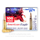 5.56x45 XM193BL Ammo For Sale - 55 gr FMJ-BT  Federal Ammunition - 500 Rounds