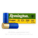 "Bulk 12 Gauge Ammo For Sale - 2-3/4"" 1 oz. Rifled Slug Ammunition in Stock by Remington Slugger - 250 Rounds"