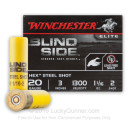 """Premium 20 Gauge Ammo For Sale - 3"""" 1-1/16oz. #2 Hex Steel Shot Ammunition in Stock by Winchester Blind Side Waterfowl - 25 Rounds"""