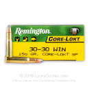 30-30 Ammo For Sale - 150 gr SP - Remington Core-Lokt Ammo Online