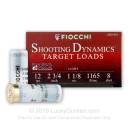 "Cheap 12 Gauge Ammo For Sale - 2-3/4"" 1-1/8 oz. #8 Shot Ammunition in Stock by Fiocchi Shooting Dynamics - 25 Rounds"