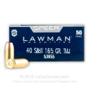 40 S&W Ammo - 165 gr TMJ - Speer Lawman 40 cal Ammunition - 1000 Rounds