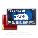 "Cheap 12 Gauge Ammo For Sale - 2-3/4"" 1oz. #7.5 Shot Ammunition in Stock by Federal Top Gun Sporting - 25 Rounds"