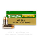 40 Cal Ammo For Sale - 165 gr JHP Remington Golden Saber Bonded 40 cal Ammunition In Stock - 50 Rounds