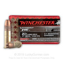 Cheap 22 LR Ammo For Sale - 37 gr Copper Plated Hollow Point Ammunition - Winchester Varmint HE - 50 Rounds