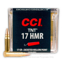17 HMR Ammo For Sale - 17 gr TNT Hollow Point - CCI Ammunition In Stock - 50 Rounds