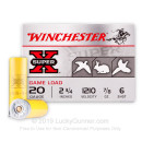 "Cheap 20 Gauge Ammo - Winchester Super-X Game Load 2-3/4"" #6 Lead Shot - 25 Rounds"