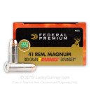 Premium 41 Mag Ammo For Sale - 180 Grain Barnes XPB HP Ammunition in Stock by Federal - 20 Rounds