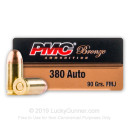 380 Auto Ammo In Stock - 90 gr FMJ - 380 ACP Ammunition by PMC For Sale - 1000 Rounds