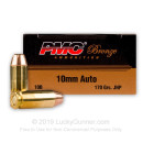 Cheap 10mm Auto JHP Ammo For Sale - 170 gr JHP- PMC 10mm Ammunition In Stock - 25 Rounds