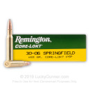30-06 Ammo For Sale - 165 gr PSP - Remington Core-Lokt Ammo Online - 20 Rounds