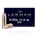Cheap 38 Special Ammo For Sale - 125 Grain TMJ Ammunition in Stock by Speer Lawman - 50 Rounds