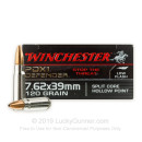 Premium 7.62x39 Ammo For Sale - 120 Grain HP Ammunition in Stock by Winchester PDX1 Defender - 20 Rounds