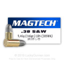 Cheap 38 S&W  - 146 gr LRN - Magtech - 50 Rounds