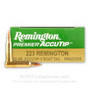 Premium 223 Rem Varmint Ammo For Sale - 50 gr AccuTip Ammunition In Stock by Remington - 20 Rounds