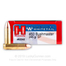 Premium 450 Bushmaster Ammo For Sale - 245 Grain InterLock Ammunition in Stock by Hornady American Whitetail - 20 Rounds