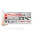 Premium 8mm Mauser Ammo For Sale - 170 Grain Super-X Power Point  Ammunition in Stock by Winchester - 20 Rounds