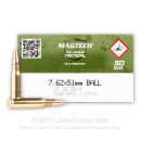Bulk 7.62x51mm Ammo For Sale - 147 Grain FMJ Ammunition in Stock by Magtech First Defense - 400 Rounds