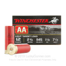 "Cheap 12 Gauge Ammo For Sale - 2 3/4"" 1 1/8 oz. #7.5 Shot Ammunition in Stock by Winchester AA - 25 Rounds"