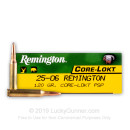 Cheap 25-06 Ammo For Sale - 120 gr PSP - Remington Core-Lokt Ammo Online - 20 Rounds