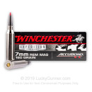 Premium 7mm Rem Mag Ammo For Sale - 160 Grain Accubond Ammunition In Stock by Winchester Supreme - 20 Rounds