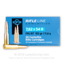 7.62x54r 182 gr FMJ-BT Ammunition In Stock by Prvi Partizan - 20 Rounds