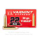 Bulk 22 WMR Ammo For Sale - 30 gr V-MAX Varmint Ammo by Hornady - Hornady 22 Magnum Rimfire Ammunition In Stock - 2000 Rounds
