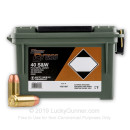 40 cal Ammo For Sale  - 180 gr FMJ Blazer Brass 40 S&W Ammunition - 250 Rounds in a New Plano Ammo Can