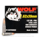 Bulk Wolf Performance Ammo - 7.62x39 122 grain FMJ Ammo - 1000 Rounds