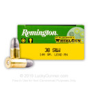 Cheap 38 S&W Ammo For Sale - 146 grain Lead Round Nose Ammunition in Stock by Remington Performance Wheel Gun - 50 Rounds