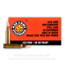 Cheap .223 Rem Ammo For Sale - 56 Grain FMJBT Ammunition in Stock by Red Army Standard - 20 Rounds