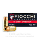 Defense 40 Cal Ammo For Sale - 165 gr JHP Fiocchi Ammunition - 1000 Rounds