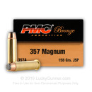 357 Mag Ammo For Sale - 158 gr JSP Ammunition by PMC In Stock - 1000 Rounds